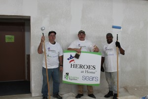Volunteers for Rebuilding Together working at the Disabled American Veterans rehab as a part of the Heroes at Home program through Sears.